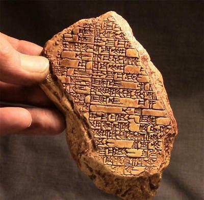 OLD BABYLONIAN CUNEIFORM MUSIC TABLET 1800 BC  ancient replica