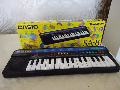 Vintage Retro Casio SA-8 25 Sound Tone Bank Keyboard Boxed