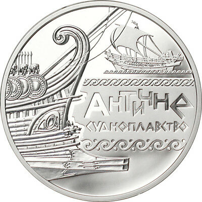 Ukraine 2012 10 Hryvnias Ancient Navigation Proof Silver Coin