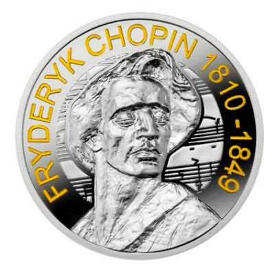 Niue 2015 2$ Frederic Chopin 2 oz Proof Silver Coin