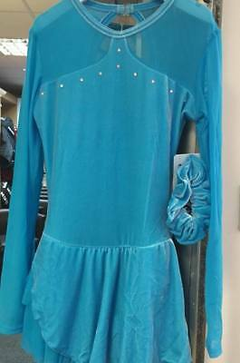 Ice Skating Dress Light Blue Crystals Chloe Noel Child Medium