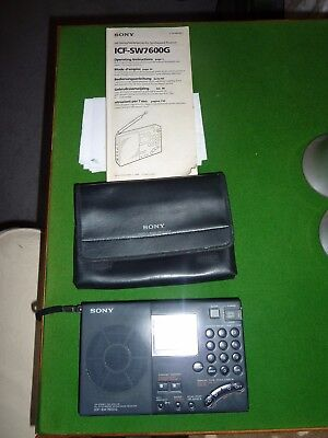 Sony Icf-Sw7600G Portable Fm Sterio/sw/mw/lw Pll Synthesized World Band Receiver
