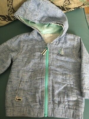 Baby Boys Nautical Jacket Lightweight Coat Age 9-12 Months From Next