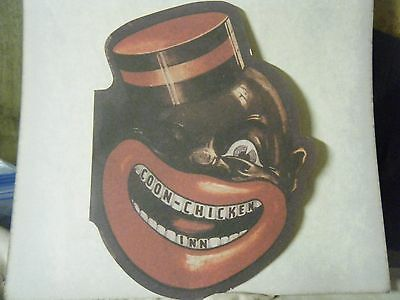 COON CHICKEN INN die cut ''MENU . BLACK Memorabilia . `UNUSUAL! Copy