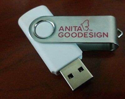 Anita Goodesign Official  Embroidery Machine Design USB. with 154 Collections.