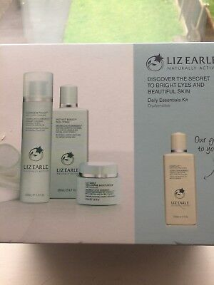 Liz Earle Naturally Active Daily Essentials Kit New Gift Set Boxed