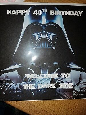 welcome to the dark side star wars 40 th birthday card