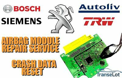 PEUGEOT AIRBAG ECU Srs Ecu Airbag Module Crash Data Reset Repair Service