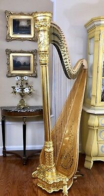 A Glorious Lyon And Healy Style 22 Semi Grand Pedal Harp