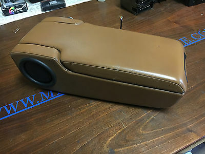 W124 Amg E500 Reposabrazos Armrest Box Guantera Leather Brown Oem Mercedes