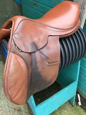 Barnsby Brown Leather Jump Saddle 16 Inch