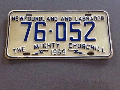 License Plate Newfoundland And Labrador 1969 (Churchill)