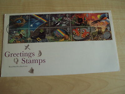 First Day Cover FDC 5 Feb. 1991 GREETING STAMPS post-marked Derby