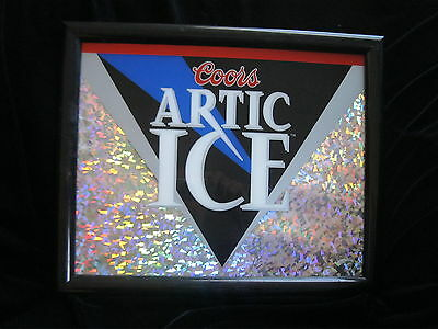 """Coors -  Artic Ice  - Framed Wall Advertisement - 13.5""""  X 16.5"""""""