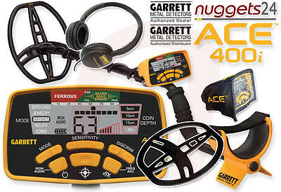 GARRETT i ACE 400i ACE400i YOUTUBE Bestseller Metalldetektor nuggets24 SuperSet