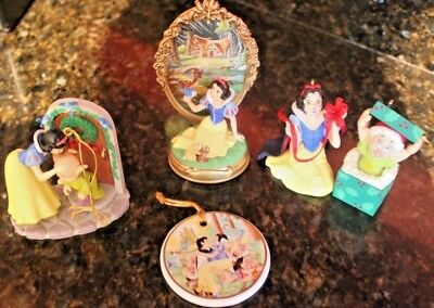 Disney Snow White and The Seven Dwarfs Christmas Collectible Ornament Lot