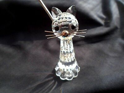 Beautiful & Cute Swarovski Crystal Sitting Cat.  Guaranteed Perfect
