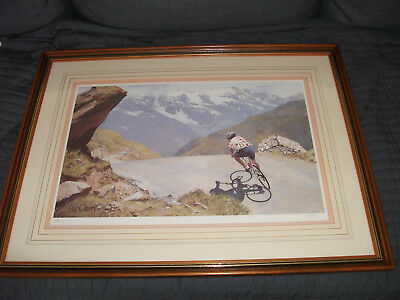 Pair of Pat Cleary Framed Tour de France prints