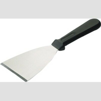 Professional Griddle Scraper, Strong Stainless Steel Blade, Black Handle