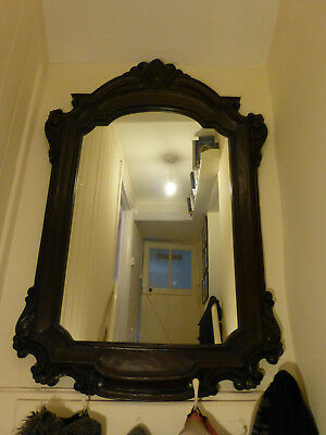 Reproduction antique-style dark mirror - fabulous condition