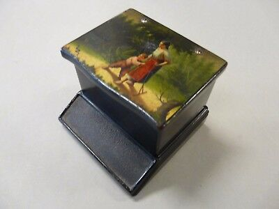 Russian Imperial laquer Lukutin Factory matches box XIX cent. Фабрика Лукутина