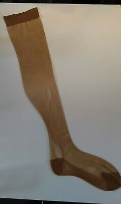 3 pairs of vintage nylon stockings size 9.5 -10 RHT.. chocolate STRETCH NYLONS