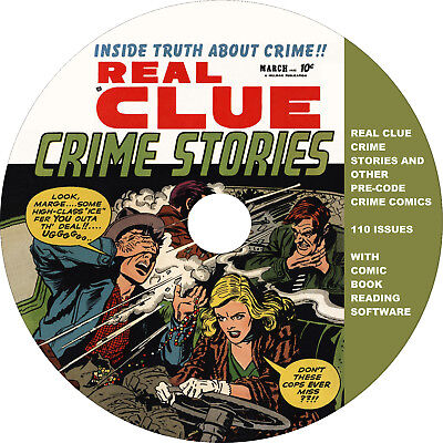Real Clue Crime Stories and other crime comics on DVD-R w/ reading software