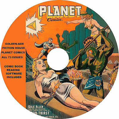 Vintage Golden Age Planet Comics on DVD-R complete run of 73 issues