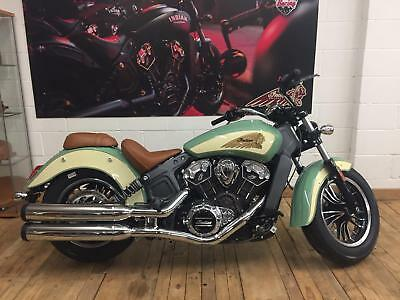 IN STOCK - 2018 Indian Scout 2-Tone in Ivory and Green - 5 YEARS WARRANTY