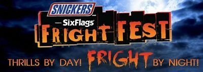 (1) Six Flags One Day General Admission Ticket To Any Park 2017