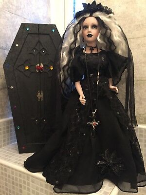 Gothic Doll With Coffin
