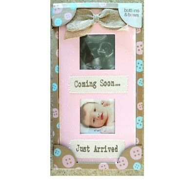 Pink Rustic Ultrasound Baby Frame