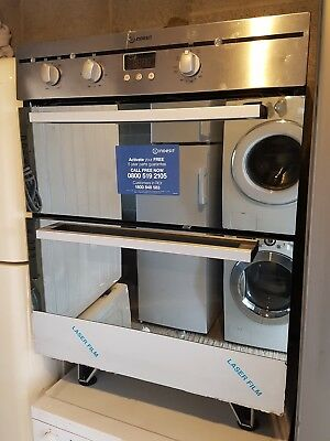 New/Ex-Display Indesit Built in double oven: electric. Intergrated oven RRP £389