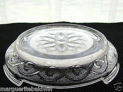 Anchor Hocking Glass Clear Sandwich Punch Bowl Base Stand