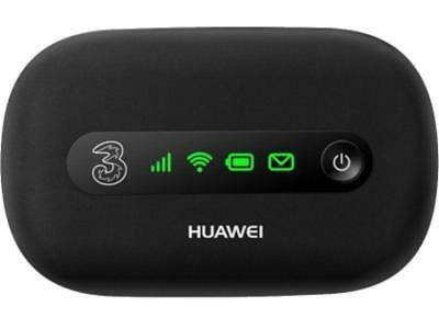 UNLOCKED Huawei E5220 3G mobile broadband Wi-Fi router. Black With USB cable
