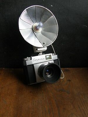 Vintage Zeiss Ikon Contina  35Mm Camera+Case And Flash, Free Uk Postage