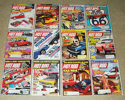 Hot Rod Magazine! Vintage Complete year lot of 12 issues from 1987! GD/VG!