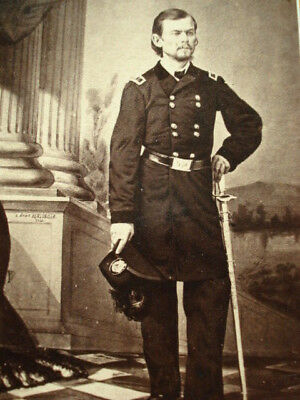 Engraving CDV: Civil War General Franz Sigel