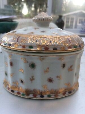 Antique United Wilson Porcelain Box ( 1891) -Signed and Dated.