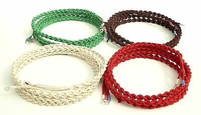 Best Quality Braided & Plaited Line Cord  Bakelite GPO Telephones - All Colours