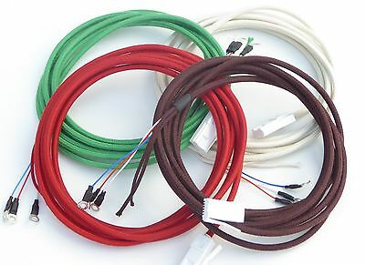 Quality Braided Round Section Line Cord  Bakelite GPO Telephones - All Colours