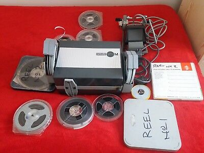 cine projector and editor with 16 rolls film