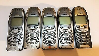5 X NOKIA 6310i MOBILE PHONES, ALL POWER UP, SOLD AS FAULTY, SPARES OR REPAIRS