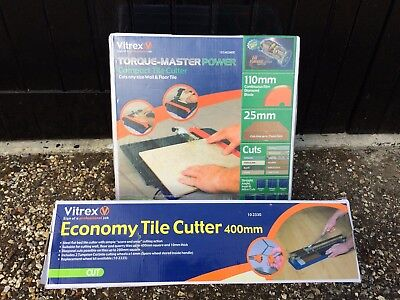 Vitrex Electric Wet Tile Saw Cutter with Diamond Blade Torque-Master 103402NDE