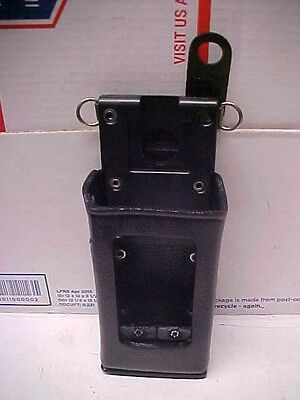 New ge ericsson oem leather holster lpe200 portable radio kry1011605/01 r2a ge11