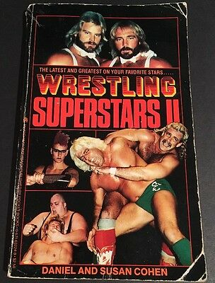 Wrestling Superstars II Book By Daniel & Susan Cohen (1986, Paperback) RARE