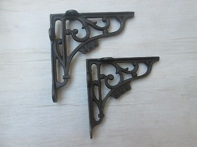 Cast Iron Rustic Vintage Old Style Victorian Sroll Shelf Support Book Bracket
