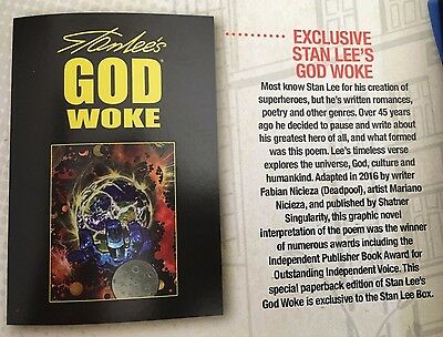 FREE SHIPPING!!! Exclusive Stan Lee's GOD WOKE Paperback Graphic Novel L@@K!!!