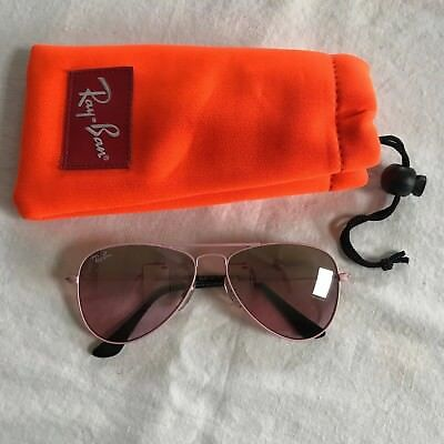 Baby Toddler Girl Pink Rayban Jr Aviator Sunglasses, With Soft Case, EUC!