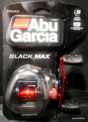 "Abu Garcia Black Max Reel 6.4:1, 5 Bearings, 26"" Retrieve, Low Profile Graphite"